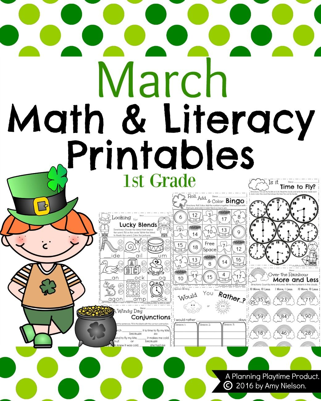 1st Grade Math And Literacy Printables