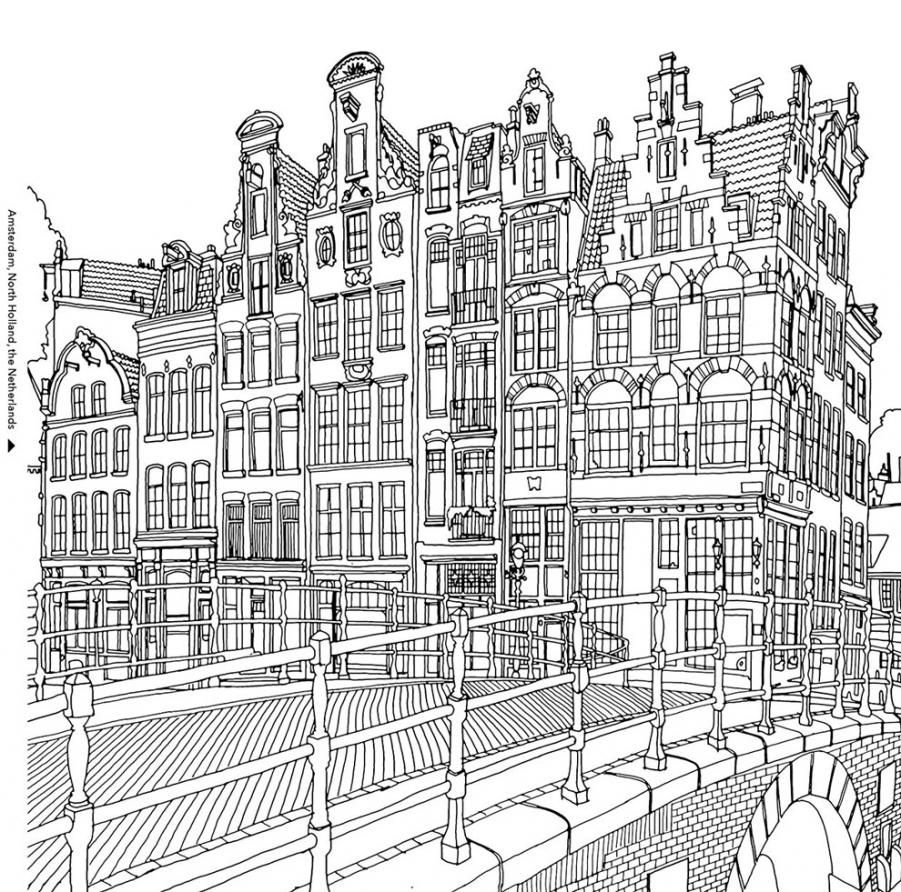 Canadian Artist Steve McDonalds Colouring Book Fantastic Cities Is Full Of Painstakingly Accurate Perspectives Urban Landscapes From Rio To Jodhpur