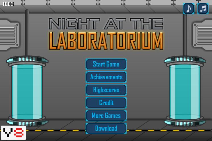 Night at the Laboratorium play online Play online, Night
