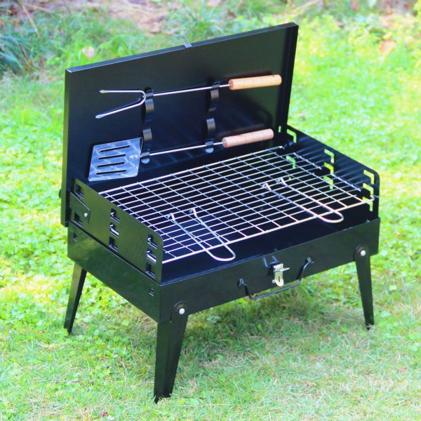 1 Pcs Hza 14 Outdoor Grill Grill Suitcase Portable Barbecue Pits Charcoal Bbq Grill Bbq Grill Set Bbq Grill