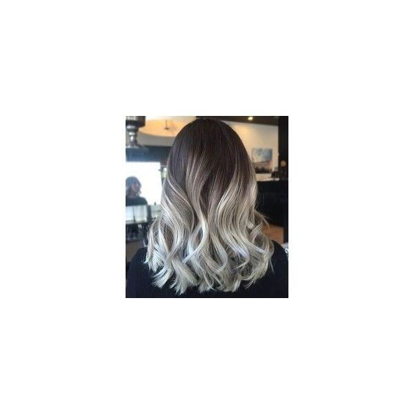 Dark roots and platinum blonde hair ❤ liked on Polyvore featuring hair