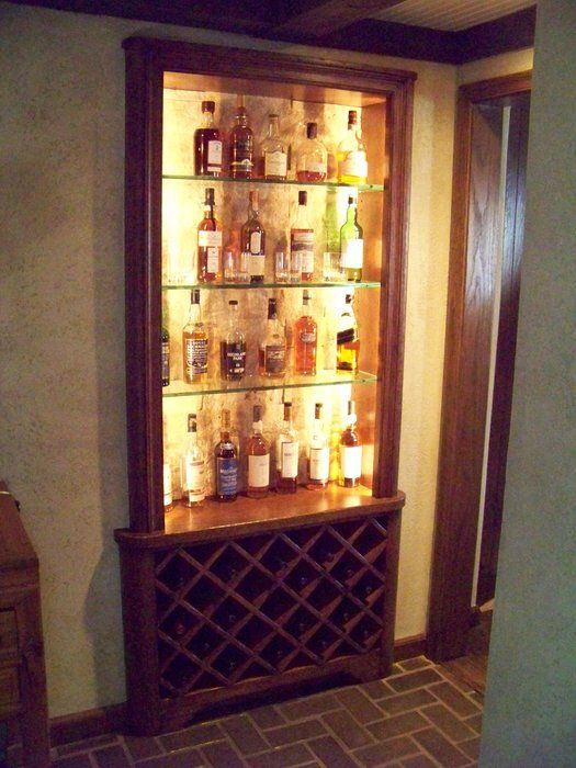 Liquor cabinet by les hastings for Built in drinks cabinet