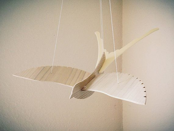 PRODUCT: Handcrafted Scissor Tailed Flycatcher mobile  MATERIALS: 1/8 thick Poplar wood and ivory | Robinson Design