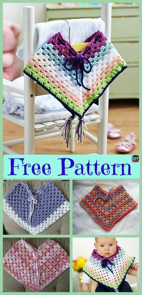 Crochet Baby Poncho - Free Patterns #babyponcho