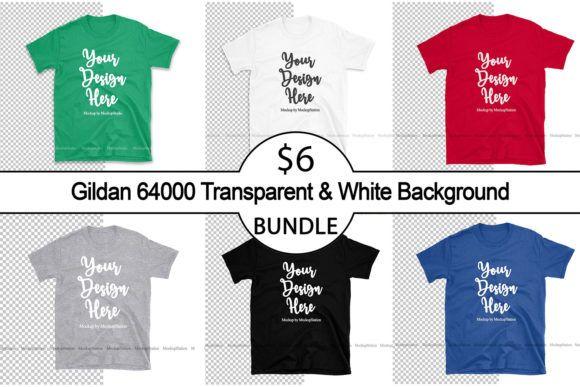 Download 6 T Shirt Mock Up Bundle Gildan 64000 White Black Red Gray Royal Blue And Irish Green Unisex T Shirt Mockups Tshirt Mockup Shirt Mockup Mocking