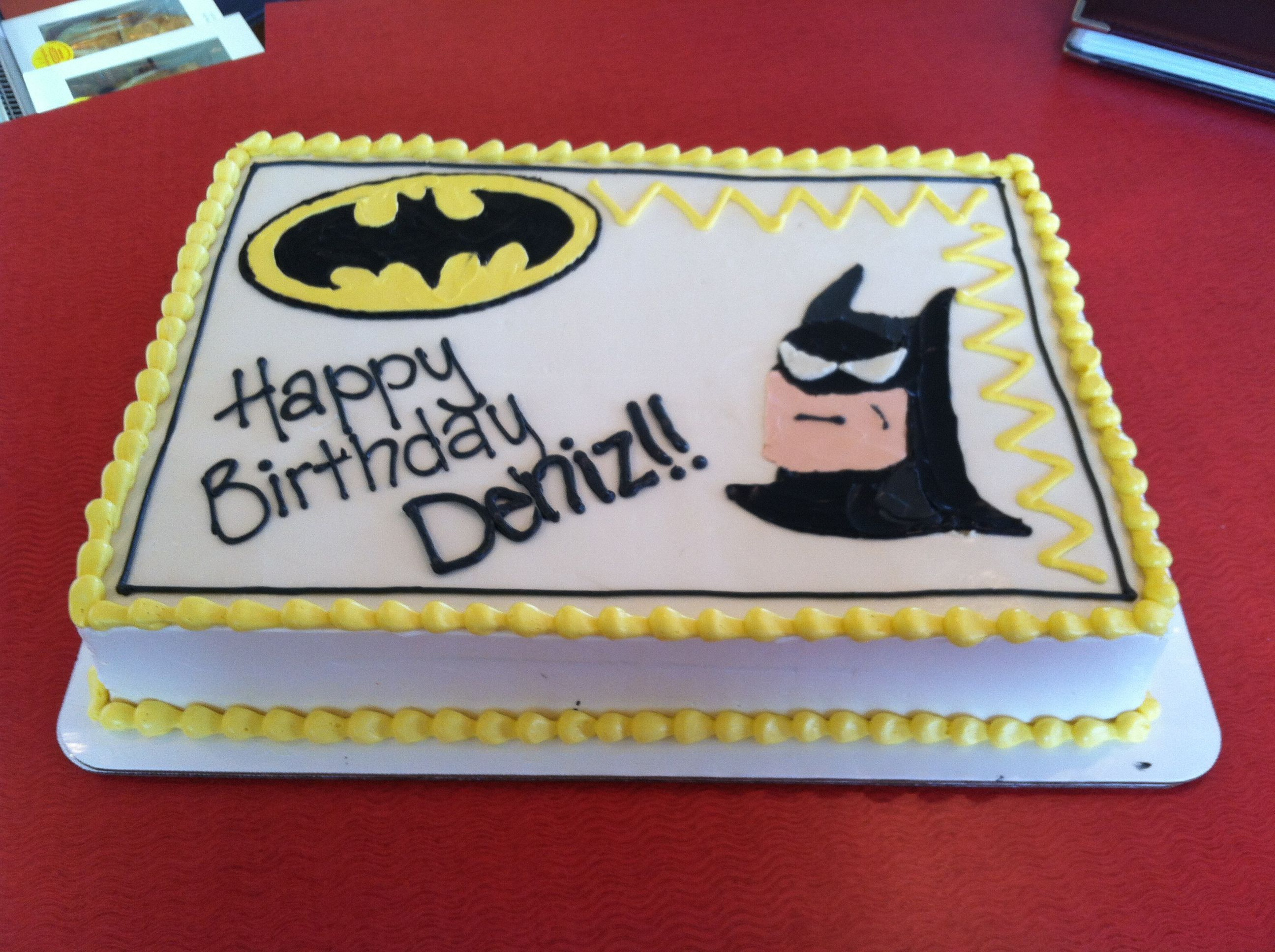 Batman Basic 1 2 Sheet Cake