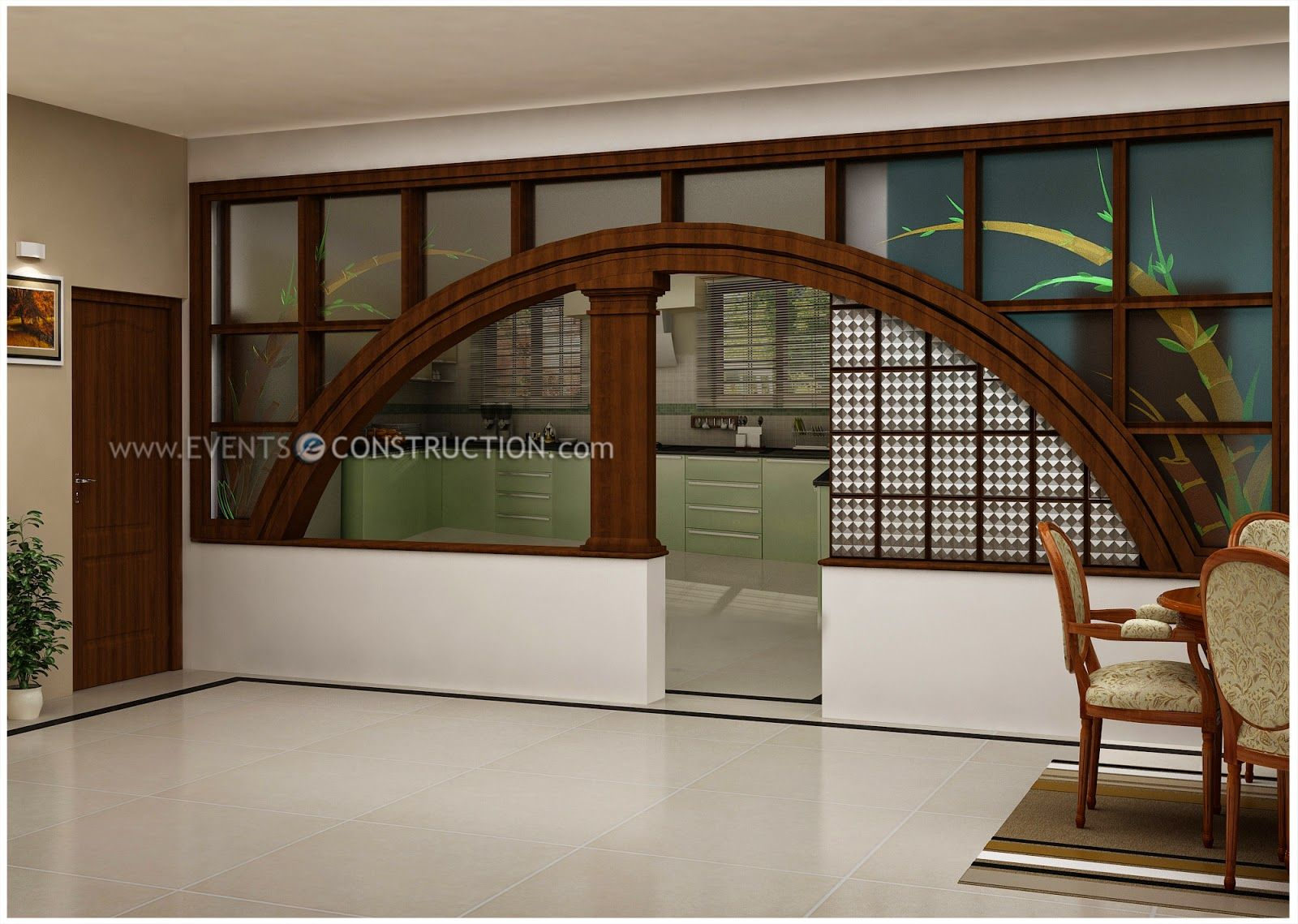 Partition Design For Living Room And Dining Hall Living Dining Partition Kerala Google Search Interiors