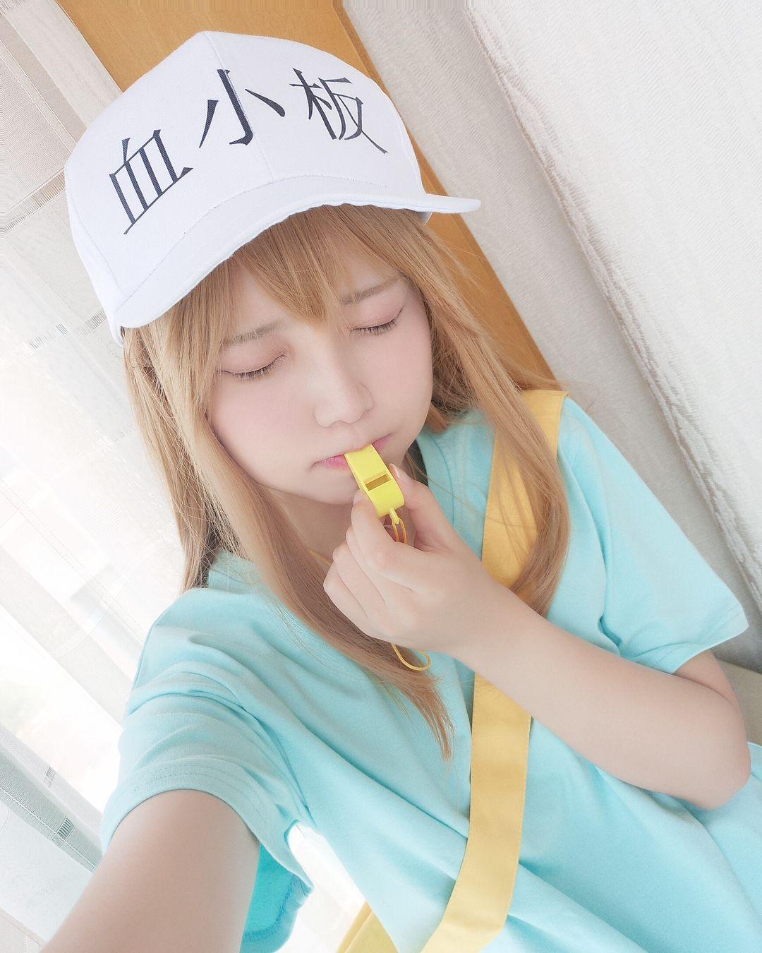 "黎狱liyuu di Instagram ""血小板 #cosplay #cos #hatarakusaibou ..."