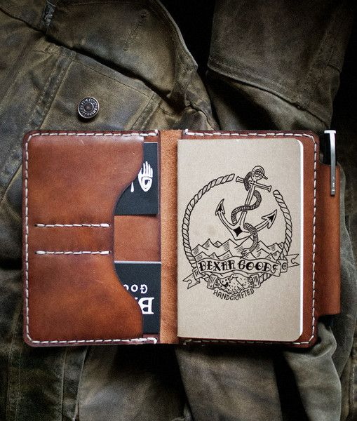 Field Notes Wallet Journal, Note and Leather - field note
