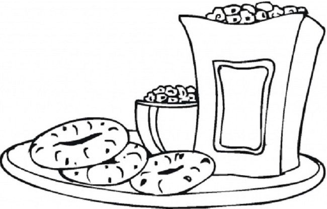 Snack Coloring Pages Coloring Pages Color Free Snacks