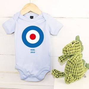 Mod target personalised baby vest personalised babygrows mod target personalised baby vest negle Image collections