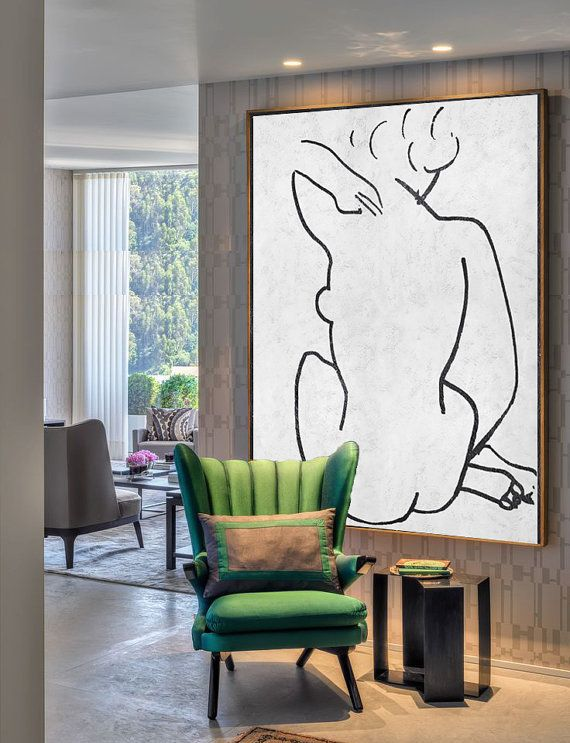 Large Abstract Painting Canvas Art Acrylic by CelineZiangArt   Art + ...