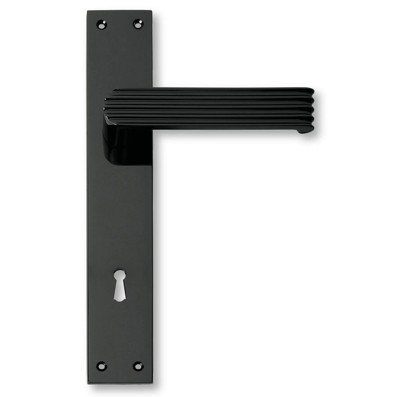 Door handle interior, Back plate Mat Black - 1930 - C02910 - Italian ...