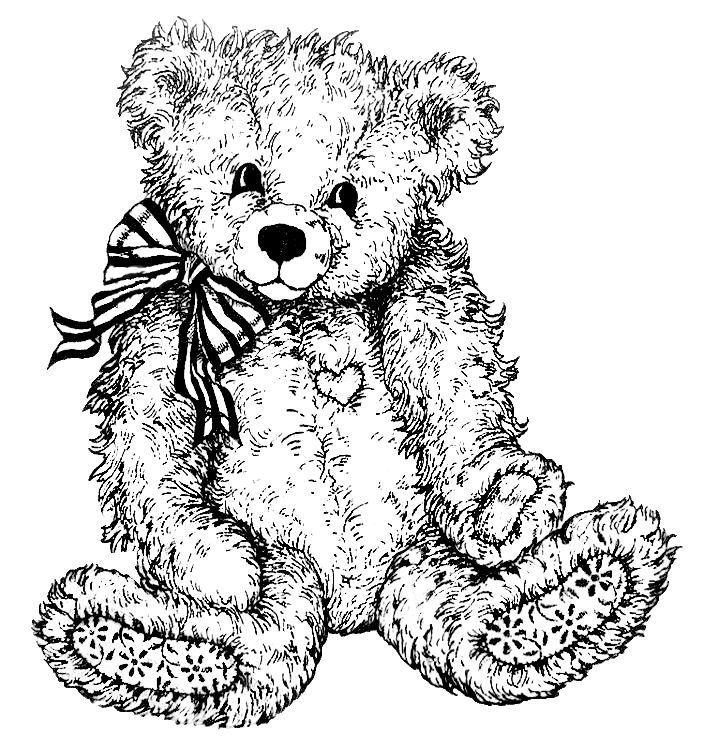 Teddy Bear Coloring Page With Bow Ahhh Cutie Teddy Bear