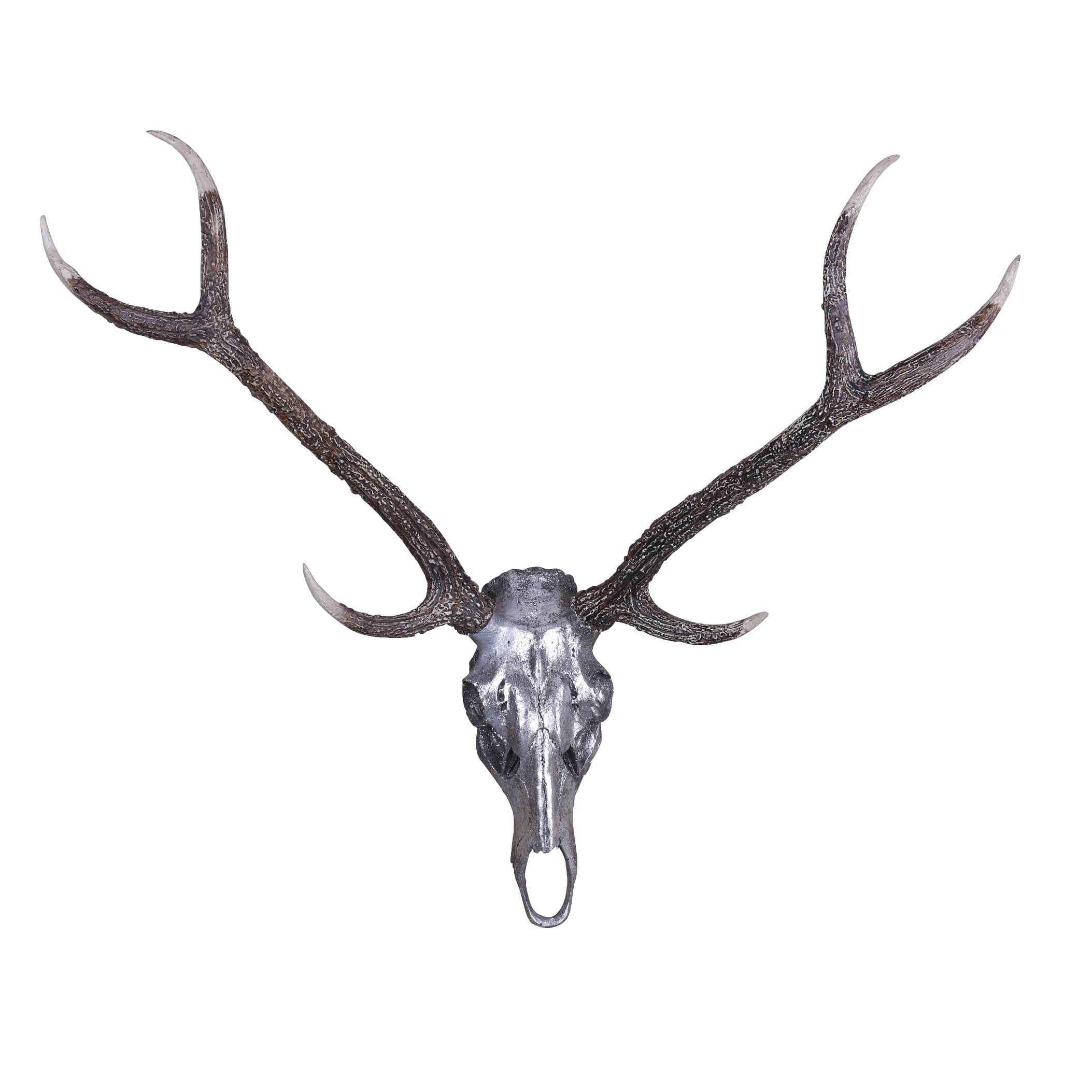 Hobbitholeco 36X36X2 Deer Skull Wall Sculpture