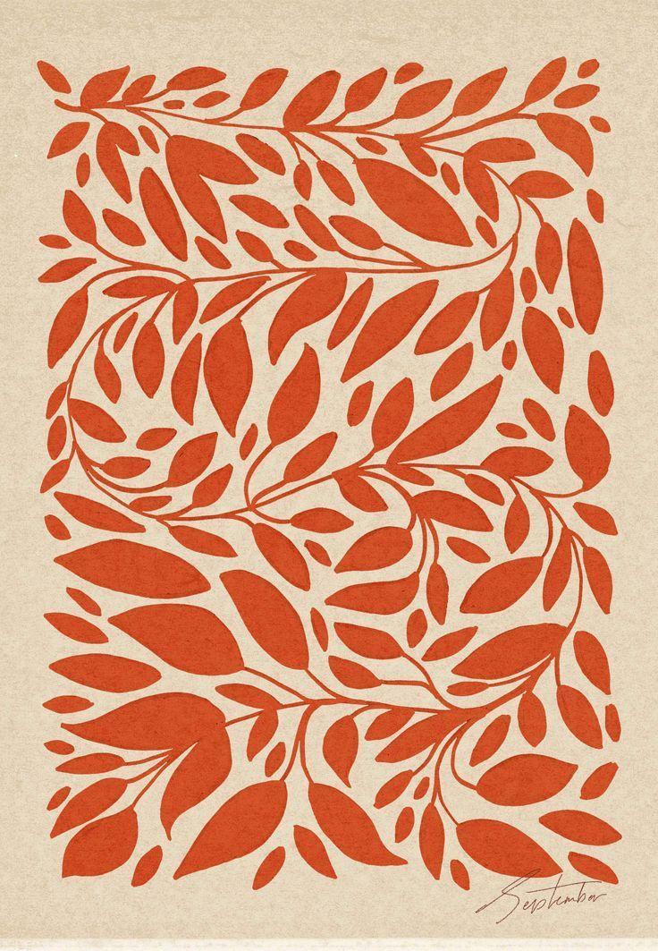 Botanical Sketches for a Warm September - Cocorrina #surfacepatterndesign