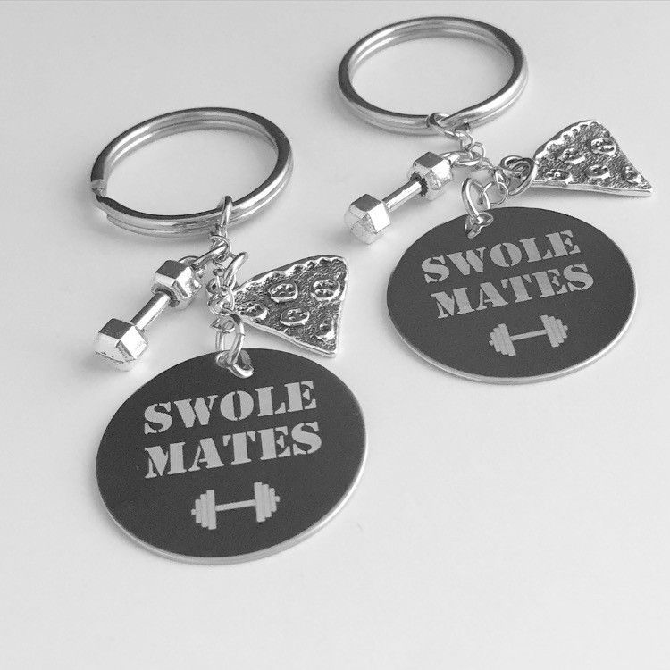 For you and your partner in crime. The price is for 2 engraved keychains, charms are additional. STEP 1. Please let us know if you want to change the engraving. STEP 2. Want to engrave the back of the