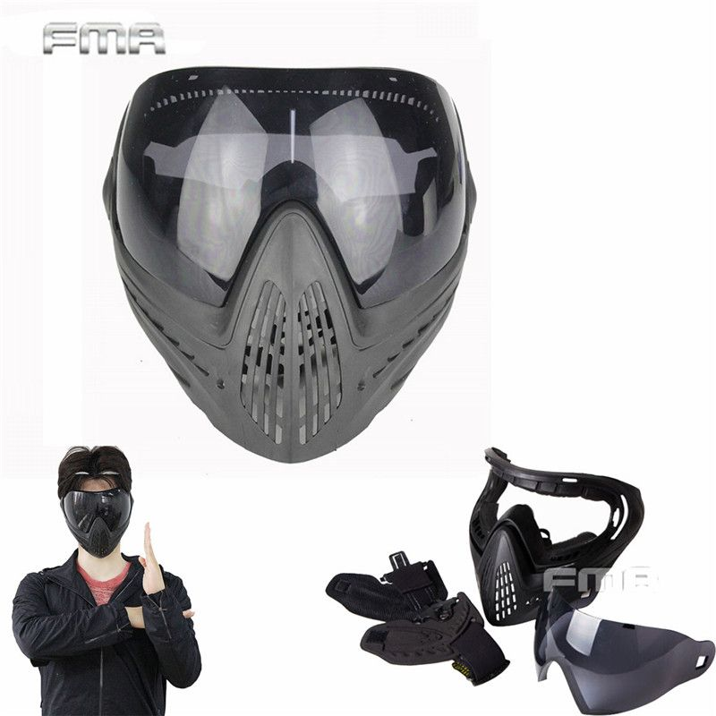 Airsoft Paintball Safety Anti Fog Protective Goggle Full Face Mask