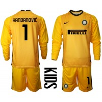 Camisa de time de futebol Inter Milan Goleiro Samir Handanovic #1 ...