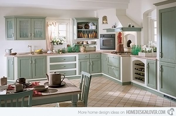 retro style kitchen cabinets. thinking of a new kitchen design to be maximizing space I like the 15 Wonderfully Made Vintage Kitchen Designs