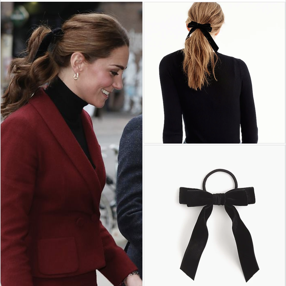 Kate Middleton s Jcrew Velvet Hair Ribbon Bow  1701375e761