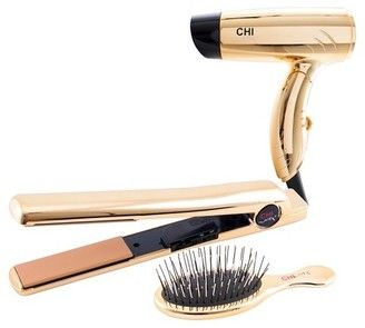 Chi Air Classic Flat Iron Bright Gold Gift Set 1 Best Affordable Hair Dryer Hair Tools Chi Hair Products