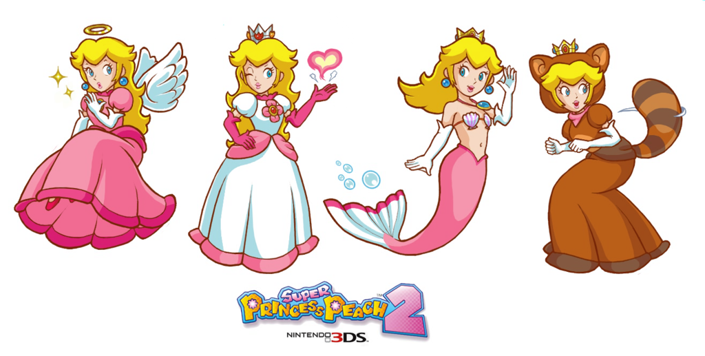 Princess Peach forms. Fire is my favorite! <3