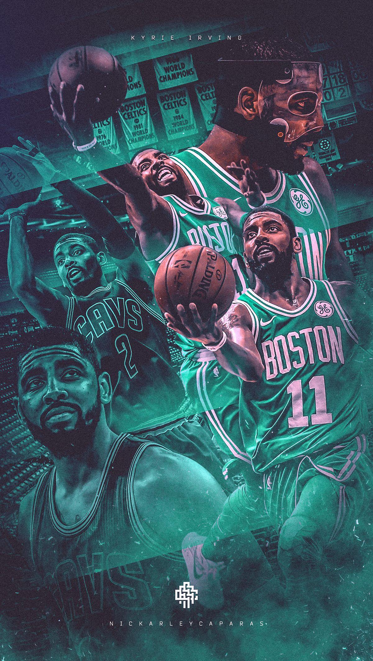 Nba Art Kyrie Irving Celtics Cavaliers Wallpaper On Behance Cavaliers Wallpaper Kyrie Irving Celtics Nba Art