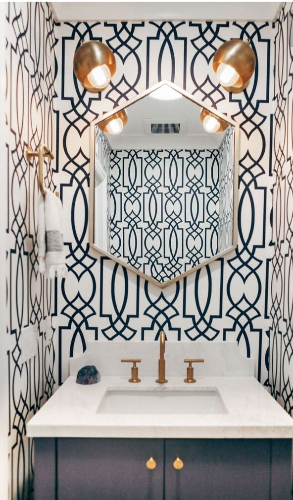wallpaper in art deco geometric pattern, only on the