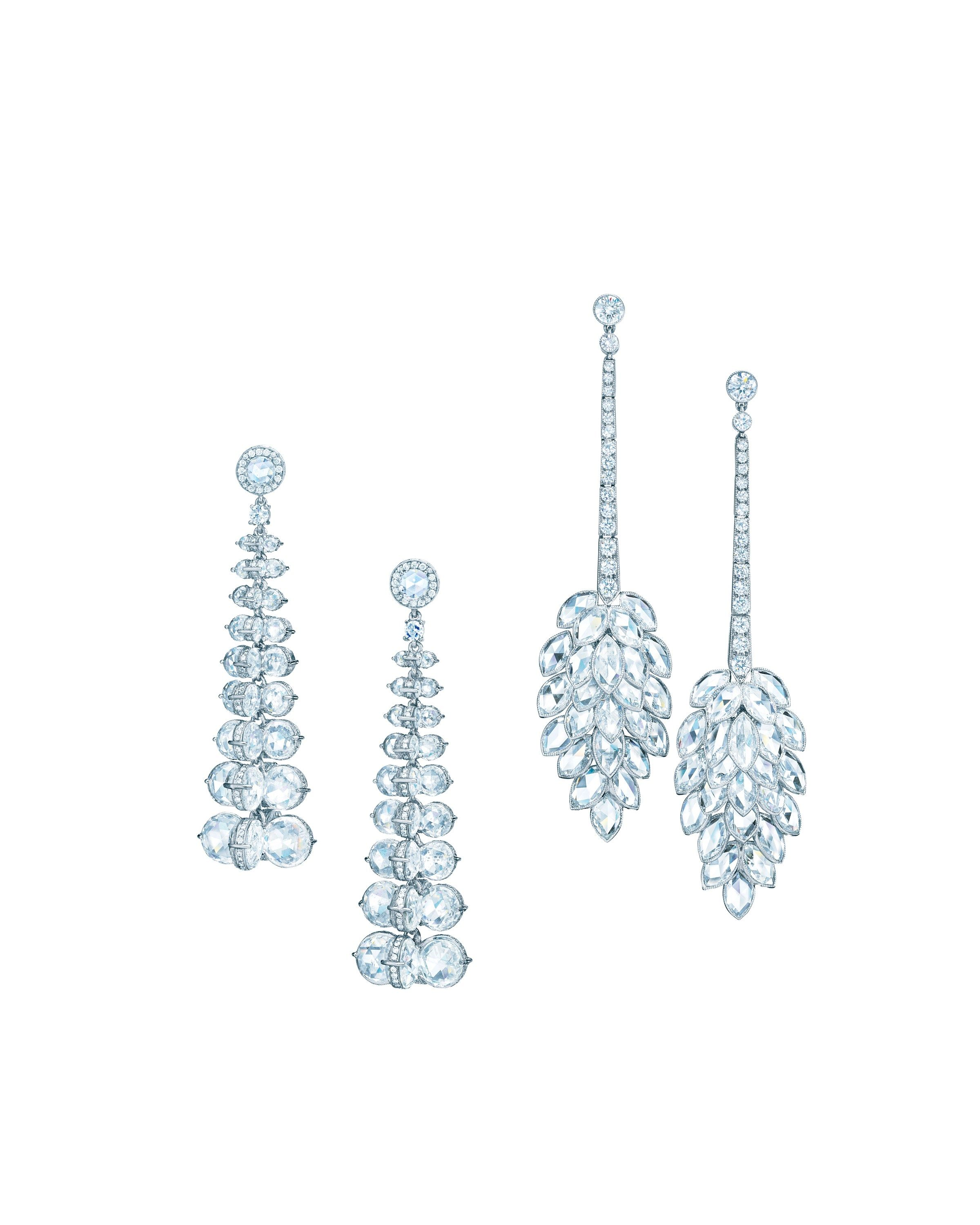 ct platinum earrings solitaire diamond tiffany