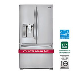 24 Cu Ft French Door Counter Depth Refrigerator With Images