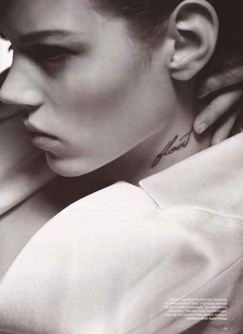 Freja Beha Erichsen by Nick Knight #vogue uk