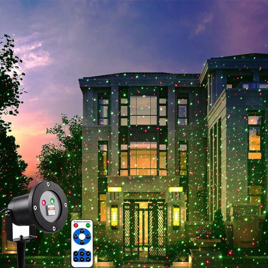 Holigoo Outdoor Laser Light With Remote Control Christmas Laser Projector Ip65 Waterproof Red Green Laser For Garden Party Hom Laser Lights Green Laser Outdoor