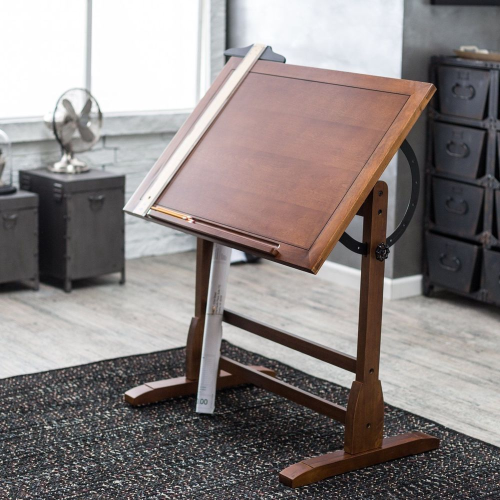 The Classic Design Of The 36 Vintage Drafting Table By Studio Designs Is Reminiscent Of Turn Of The Century Vintage Drafting Table Drafting Table Drawing Table