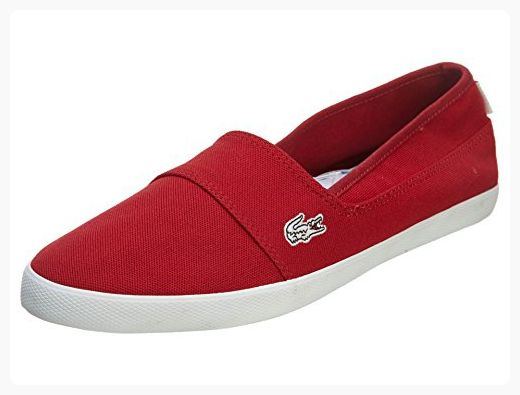 77afed72d17df7 Lacoste Womens Canvas Shoes Marice CAM Slip On Red Sneakers 10 B(M) US  ( Partner Link)