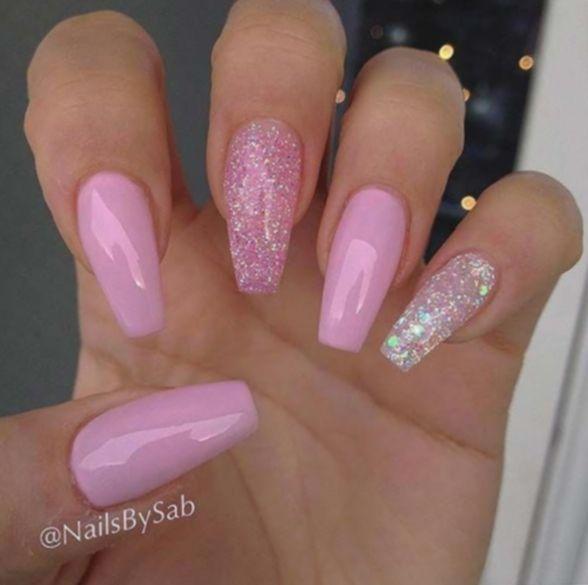Photo of 7+ Nail Glitter Design Pink