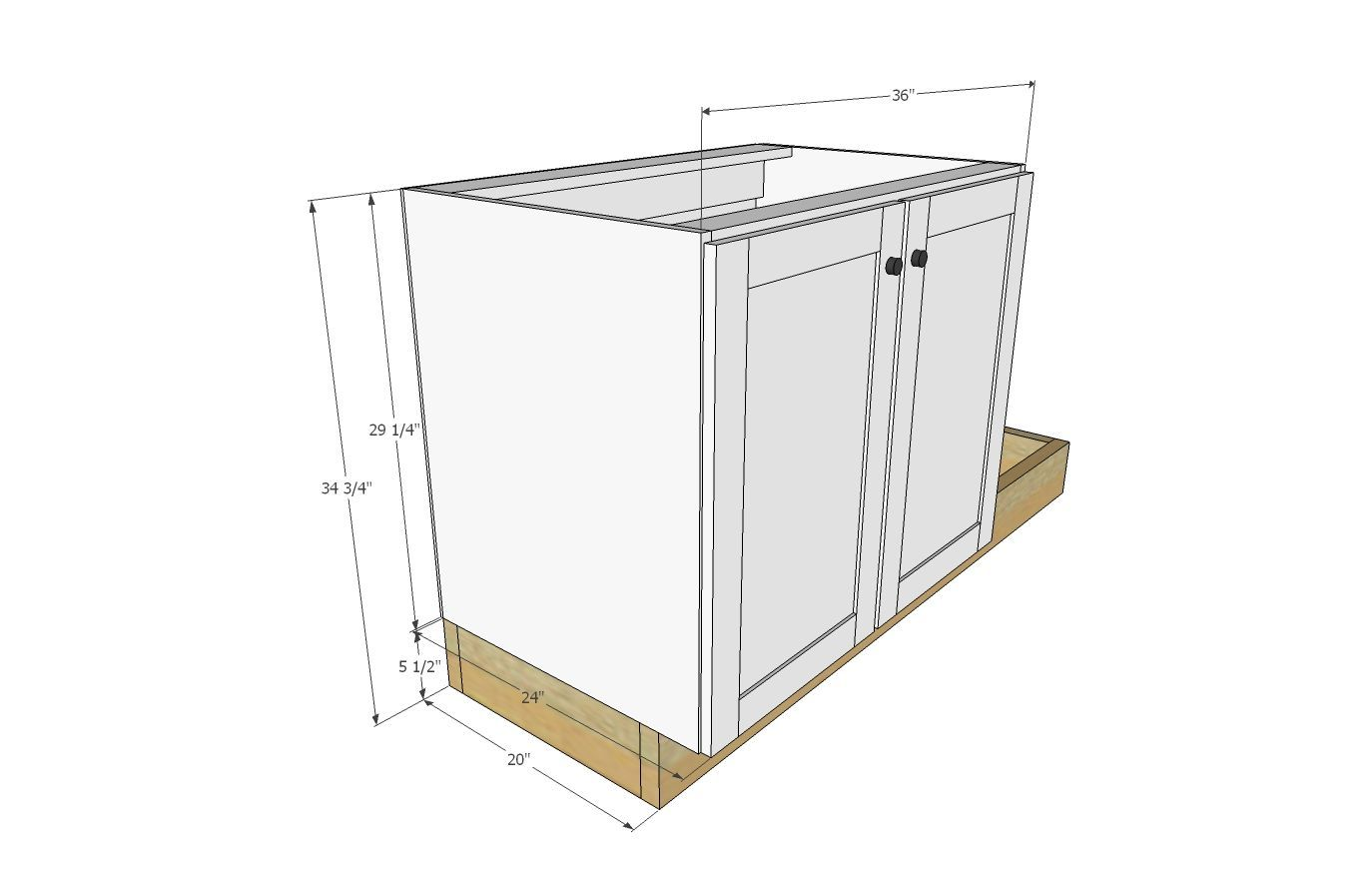 Ana White Build A Euro Style Kitchen Sink Base Cabinet For Our