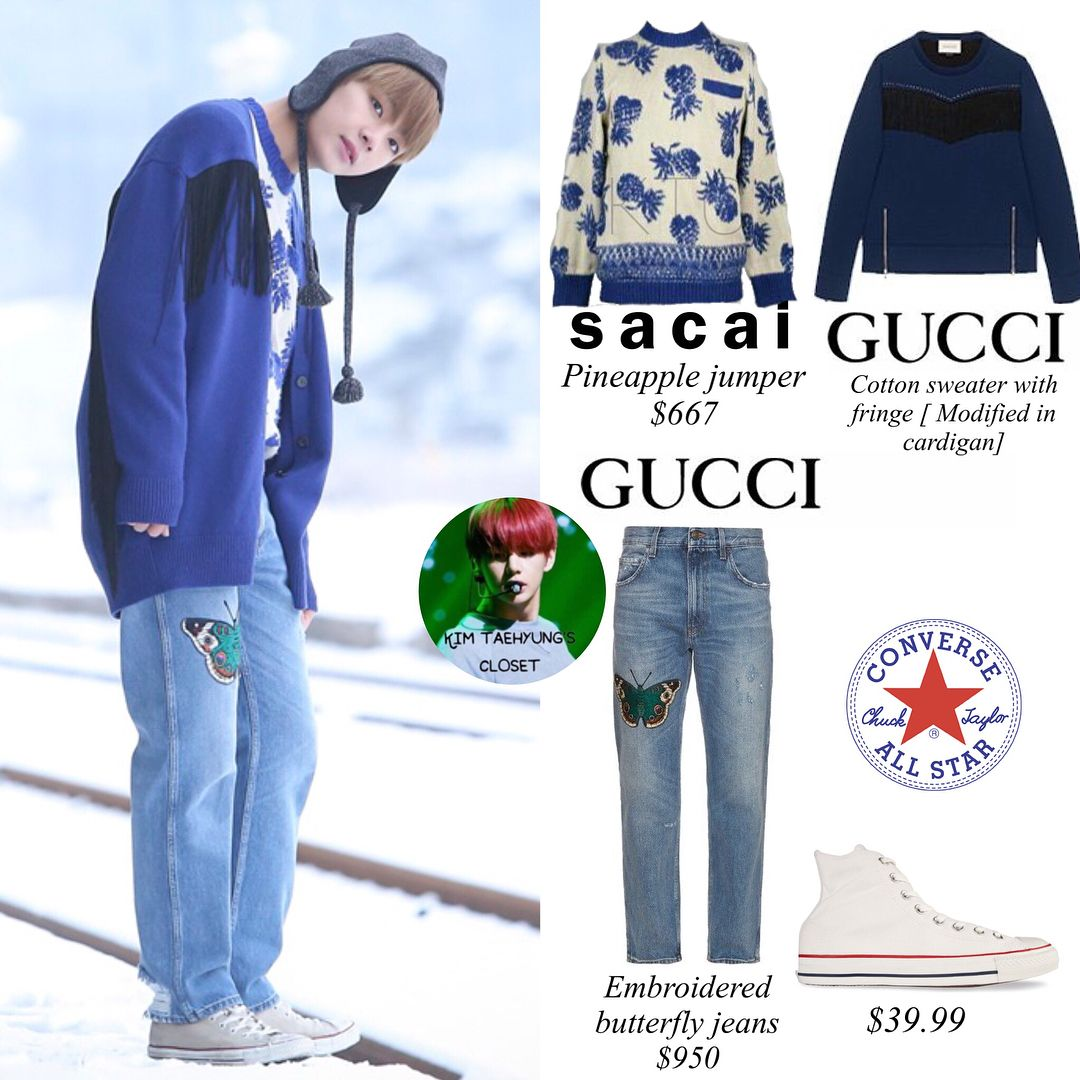 SPRING DAY MUSIC VIDEO SPECIAL Taehyung is wearing GUCCI