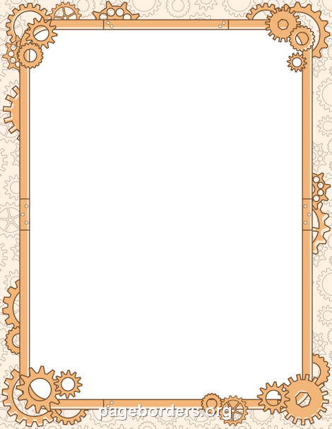 printable steampunk border free gif  jpg  pdf  and png Youth Talent Youth Clip Art