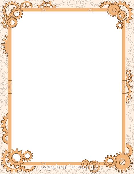 Printable steampunk border. Free GIF, JPG, PDF, and PNG ...
