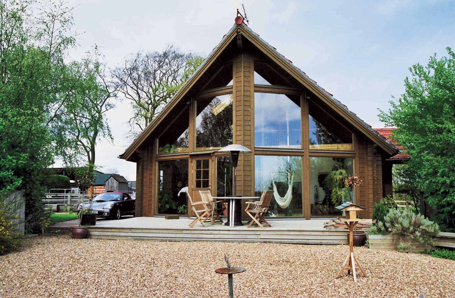 Eurohouse 159 m sq mountain lodge homes log home kits for Mountain home kits
