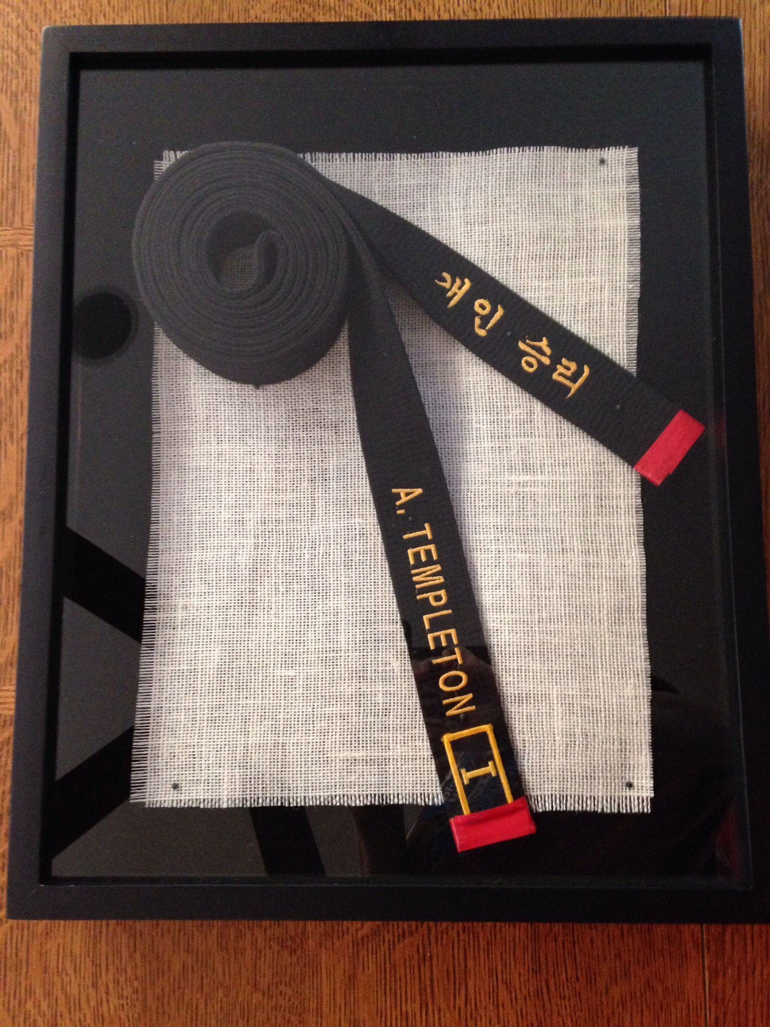 Black belt shadow box - taekwondo. A simple way to show both ends of ...