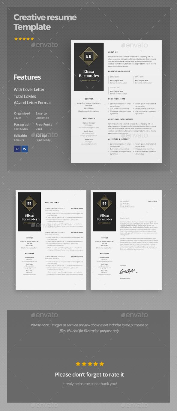 Resume Template  Template Creative Resume Templates And