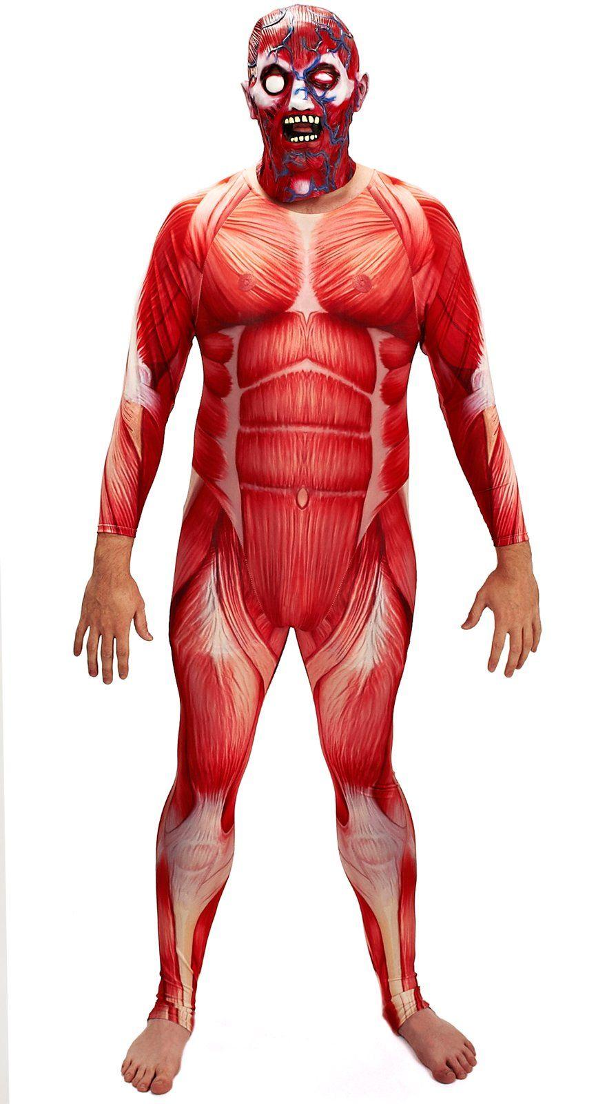 Anatomy Man Second Skin Suit Adult Costume | Anatomy class ideas ...