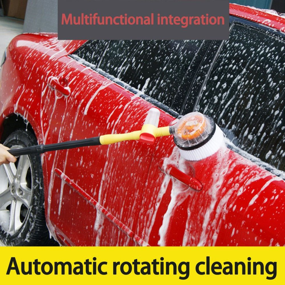 New Long Handle Retractable Car Wash Brush Car Cleaning Brush Household Portable Water Flow Foam Bottle Washin Car Cleaning Car Wash Car Wash Brushes