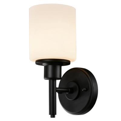 Photo of Design House Aubrey 1-Light Matte Black Indoor Wall Sconce