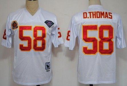 newest collection 4128d e15d9 Kansas City Chiefs #58 Derrick Thomas White 75TH Throwback ...