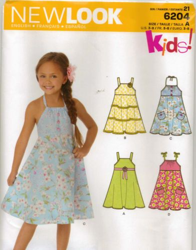 From Uk Sewing pattern Girl\'s Dress 3 - 8yrs #6204 | Sewing patterns ...