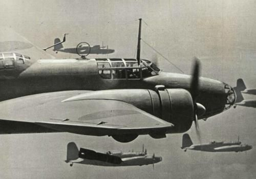 Light bombers in action