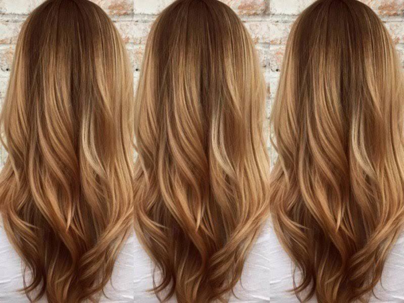 Färben haare braun mit strähnen blonden Braune Haare